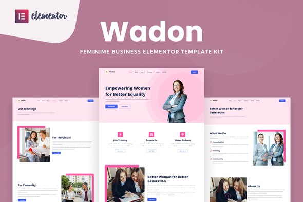 [Free Download] Wadon – Feminine Business Consultant Elementor Template Kit (Nulled) [Latest Version]