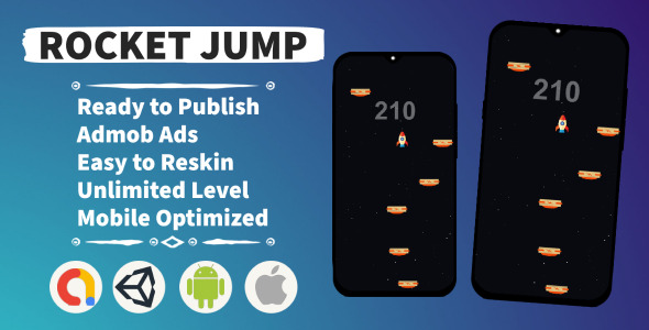 [Free Download] Rocket Jump (Unity+Admob+Android+IOS) (Nulled) [Latest Version]
