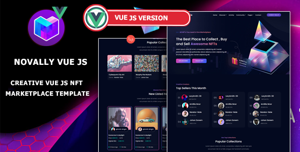 [Free Download] Novally – Vue JS NFT Marketplace Template (Nulled) [Latest Version]