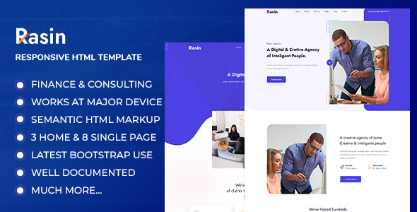 [Free Download] Rasin – Business & Consulting HTML Template (Nulled) [Latest Version]
