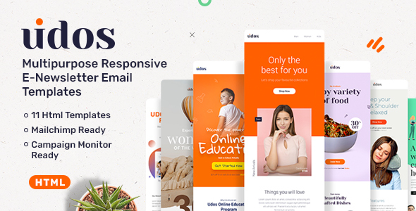 [Free Download] Udos – Multipurpose Responsive E-Newsletter Email Templates (Nulled) [Latest Version]