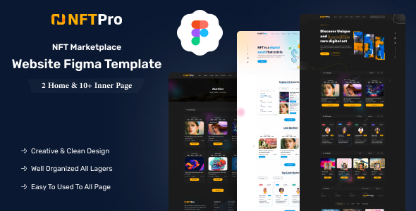 [Free Download] NFTPro – NFT Marketplace Figma Template (Nulled) [Latest Version]