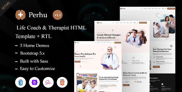 [Free Download] Perhu – Life Coach & Therapist HTML Template (Nulled) [Latest Version]