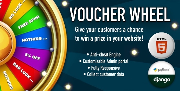 [Free Download] Voucher Wheel – Engage and give prizes to your customers (Nulled) [Latest Version]