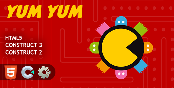 [Free Download] Pacman Yum Yum HTML5 Construct 2/3 Game (Nulled) [Latest Version]