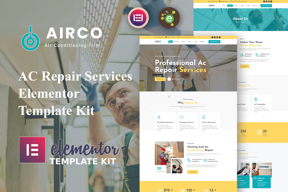 [Free Download] Airco – AC Repair Services Elementor Template Kit (Nulled) [Latest Version]