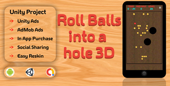 [Free Download] Roll Balls into a hole 3D (Nulled) [Latest Version]