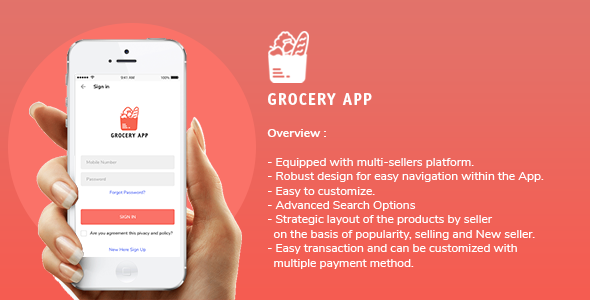[Free Download] Grocery Application Template for User in Android (Nulled) [Latest Version]