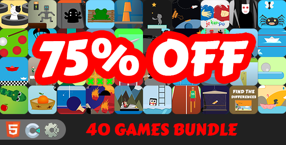 [Free Download] 40 HTML5 Games Bundle [ C2/C3 ] + 2 FREE GAMES (Nulled) [Latest Version]