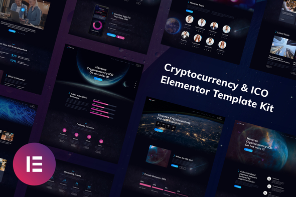 [Free Download] Hoverex | Cryptocurrency & ICO Elementor Template Kit (Nulled) [Latest Version]