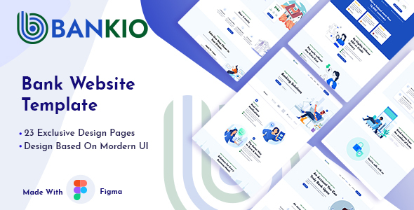 [Free Download] Bankio -Bank Website Figma Template (Nulled) [Latest Version]