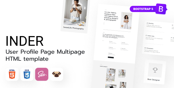 [Free Download] Inder – User Profile Page HTML5 Template (Nulled) [Latest Version]