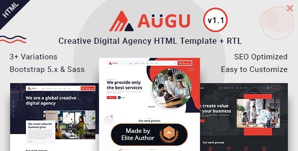 [Free Download] Augu – Creative Digital Agency HTML Template (Nulled) [Latest Version]