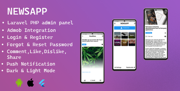[Free Download] NEWSAPP – Flutter News App with Admin Panel (Nulled) [Latest Version]