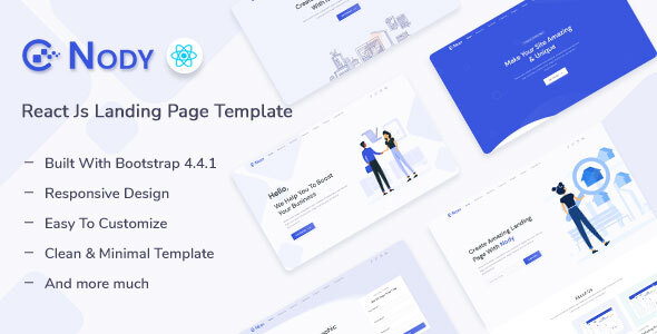 [Free Download] Nody – React Js Landing Page Template (Nulled) [Latest Version]