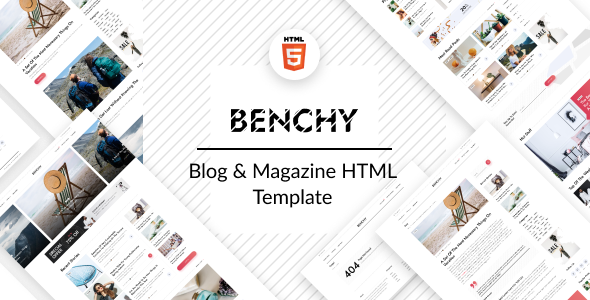 [Free Download] Benchy – Blog & Magazine HTML Template (Nulled) [Latest Version]
