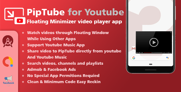 [Free Download] PipTube – Floating Youtube Video Player (Nulled) [Latest Version]