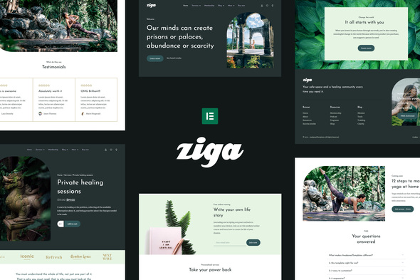[Free Download] Ziga – Healer & Life Coach Elementor Template Kit (Nulled) [Latest Version]