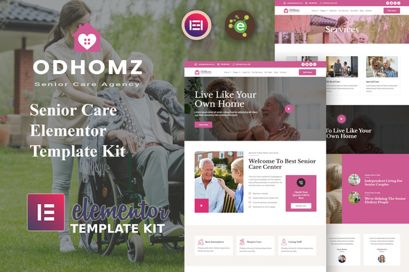 [Free Download] Odhomz – Senior Care Elementor Template Kit (Nulled) [Latest Version]