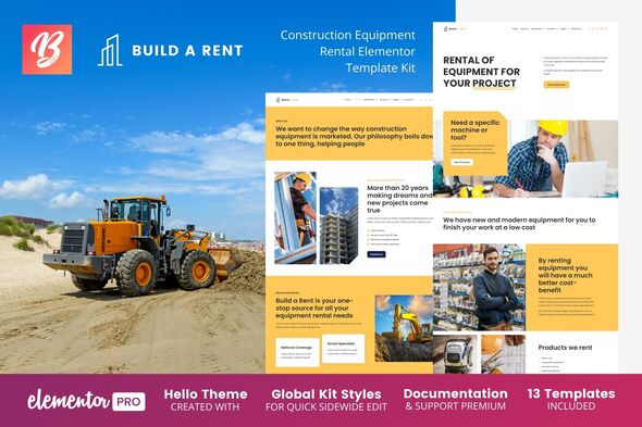 [Free Download] Build-A-Rent – Construction Equipment Rental Elementor Template Kit (Nulled) [Latest Version]