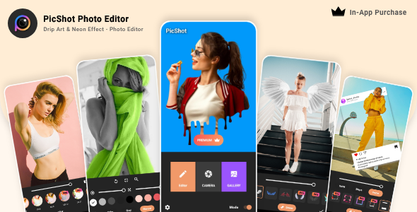 [Free Download] PicShot Photo Editor – Drip Art & Neon Effect – Photo Editor – In-App Purchase (Nulled) [Latest Version]