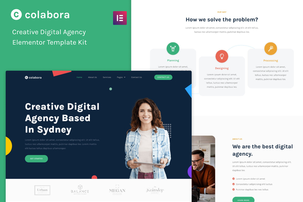 [Free Download] Colabora – Creative Digital Agency Elementor Template Kit (Nulled) [Latest Version]
