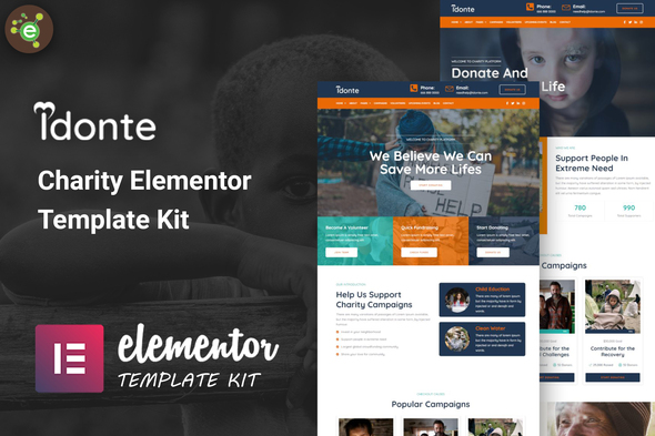 [Free Download] iDonte – Charity Non-Profit Elementor Template Kit (Nulled) [Latest Version]