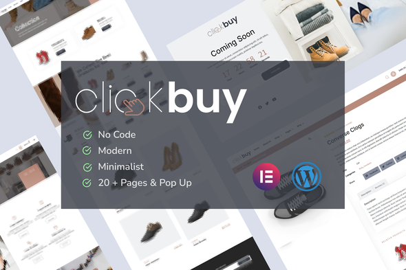 [Free Download] Clickbuy – Shoe Store WooCommerce Elementor Template Kit (Nulled) [Latest Version]