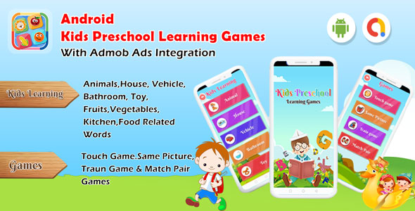 [Free Download] Android Kids Preschool Learning games – Baby First words (Android 11) (Nulled) [Latest Version]