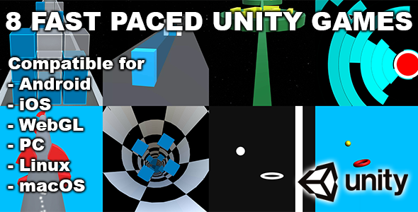 [Free Download] 8 Fast Paced Unity Games Bundle (Nulled) [Latest Version]