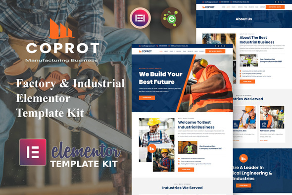 [Free Download] Coprot – Factory & Industrial Elementor Template Kit (Nulled) [Latest Version]
