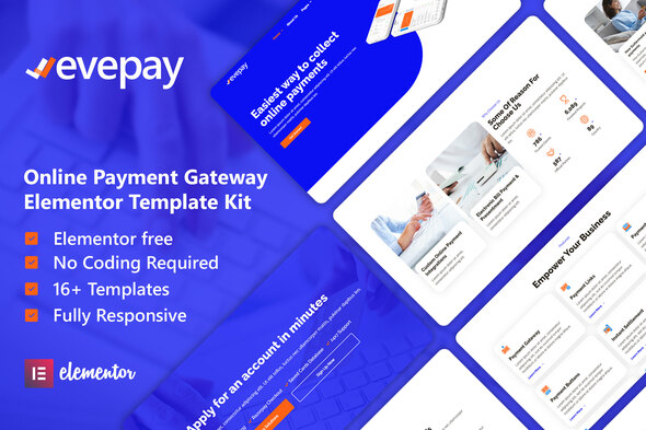 [Free Download] Evepay – Online Payment Gateway Elementor Template Kit (Nulled) [Latest Version]