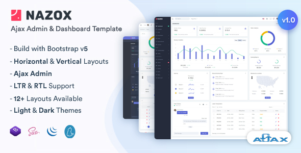 [Free Download] Nazox – Ajax Admin & Dashboard Template (Nulled) [Latest Version]