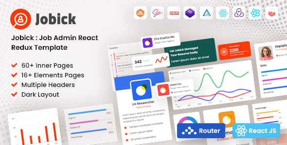 [Free Download] Jobick | React Redux Job Admin Template (Nulled) [Latest Version]