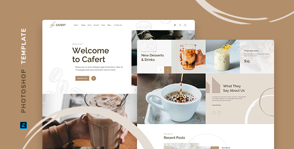[Free Download] Cafert – Cafe Template for Photoshop (Nulled) [Latest Version]
