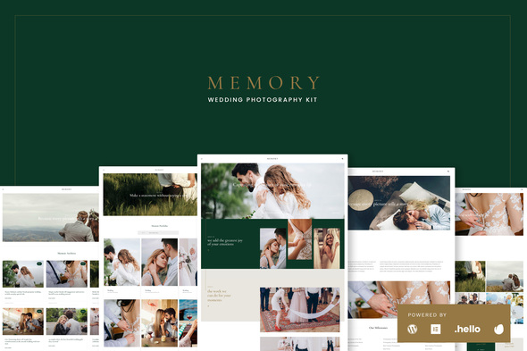 [Free Download] Memory – Wedding Photography Elementor Template Kits (Nulled) [Latest Version]