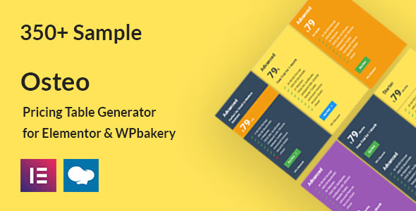 [Free Download] Osteo – WordPress Pricing Table (Nulled) [Latest Version]
