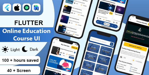 [Free Download] Flutter Online Education Course UI Kit Template (Nulled) [Latest Version]