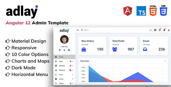 [Free Download] Adlay – Angular 12 Material Admin Template (Nulled) [Latest Version]