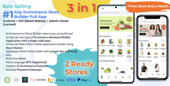 [Free Download] Any Ecommerce Store Builder Full App – React Native (Android\iOS) + Admin Panel (Nulled) [Latest Version]