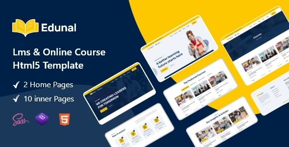 [Free Download] Edunal – LMS & Online Courses Html Template. (Nulled) [Latest Version]