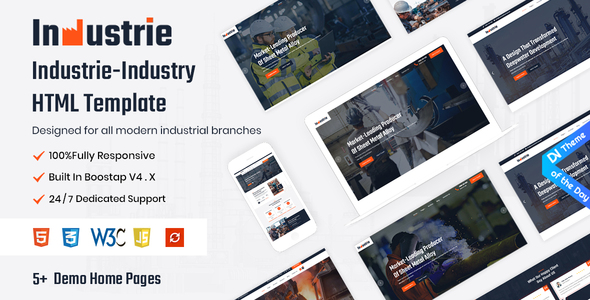 [Free Download] Industrie – Industry HTML5 Template (Nulled) [Latest Version]