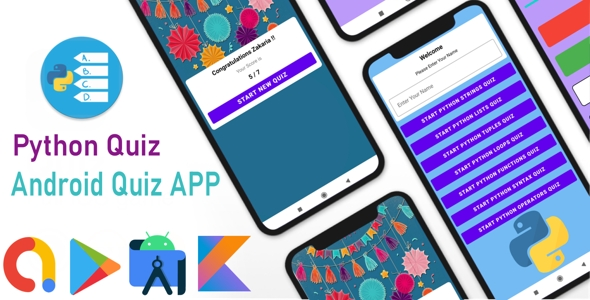[Free Download] Python Quiz – Android Quiz App Using Kotlin (Nulled) [Latest Version]