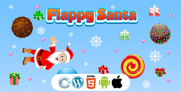 [Free Download] Flappy Santa Game (Construct 3 | C3P | HTML5) Christmas Game (Nulled) [Latest Version]