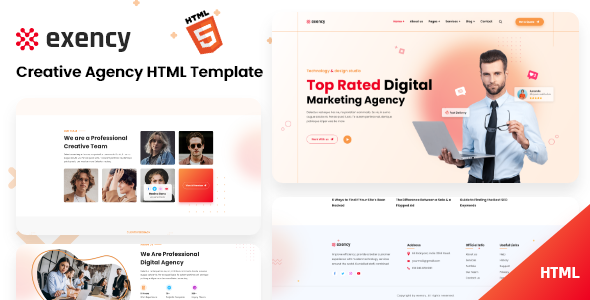 [Free Download] Exency – Marketing Agency Html5 Template (Nulled) [Latest Version]