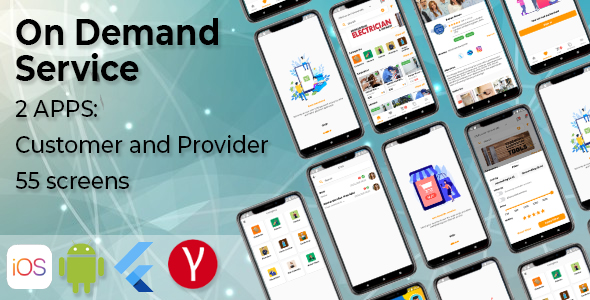 [Free Download] On Demand Service Template – 2 Apps Customer and Provider – Flutter iOS and Android Templates (Nulled) [Latest Version]
