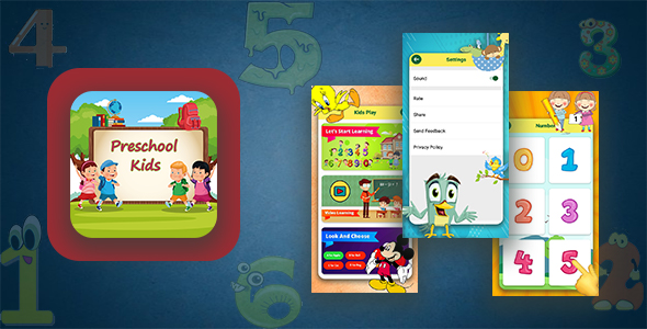 [Free Download] Kids Preschool Learning App With Facbook/Google Advertise Added | Android App (Nulled) [Latest Version]