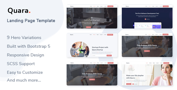 [Free Download] Quara – Responsive Landing Page Template (Nulled) [Latest Version]