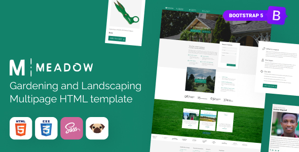 [Free Download] Meadow – Gardening, Lawn Care HTML5 Template (Nulled) [Latest Version]