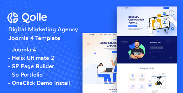 [Free Download] Qolle – Digital Marketing Agency Joomla 4 Template (Nulled) [Latest Version]